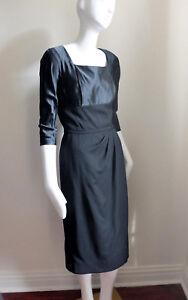 Vintage 1950s Holiday Glam Little Black Dress Cocktail Sz