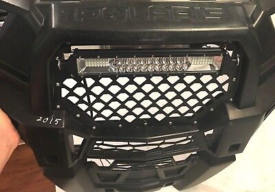 METAL GRILL /& DUAL ROW LED CREE LIGHT BAR COMBO POLARIS RZR 1000 XP RZR 900