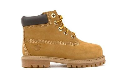 """Timberland 6"""" Premium Classic Boots Wheat TD 12809 Toddlers New Shoes Size 4-12"""