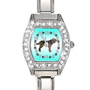 Otterhound-Cubic-Zirconia-Womens-Stainless-Steel-Italian-Charms-Watch-BJ1063