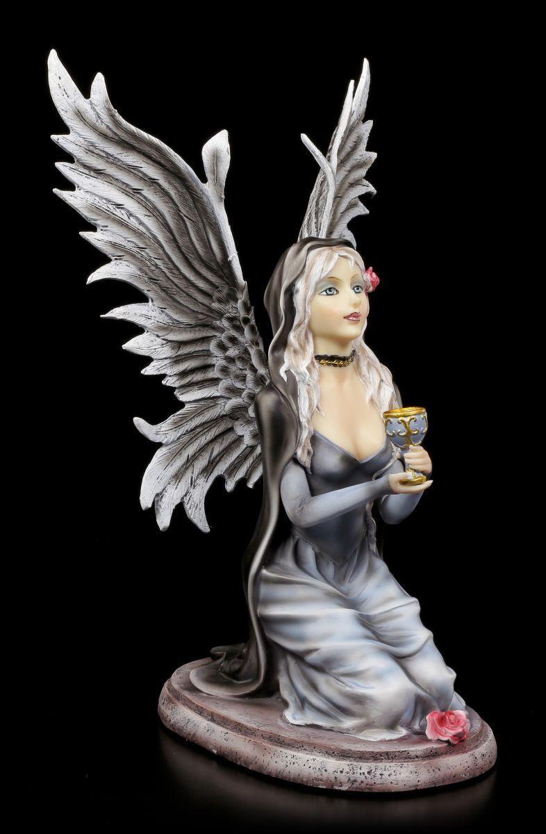 Angel Figure - Grailkeeper Kneeling - Fantasy Guardian Angel Cherubim Elf