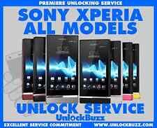 Unlock Code for Sony Xperia ZL Z Z1 Z2 Z3 SP SL J M S E M M2 Bell Virgin