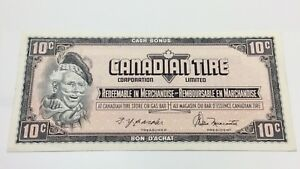 1974-Canadian-Tire-10-Ten-Cents-CTC-S4-C-EM-Uncirculated-Money-Banknote-D145
