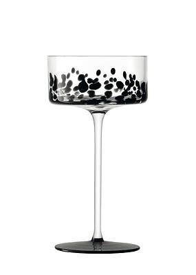 LSA Devore Black Champagne Glass 0.24L (Pair)