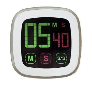 Kuechentimer-Timer-Kurzzeitmesser-Eieruhr-mit-Magnet-und-Touchscreen-digital-NEU