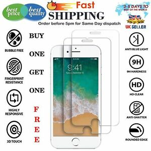 For-Apple-IPhone-8-100-Genuine-Tempered-Glass-Film-Screen-Protector-Free-Free