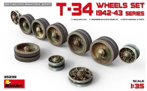 Miniart 35239-1//35 T-34 Wheels Set 1942-43 Series Neu