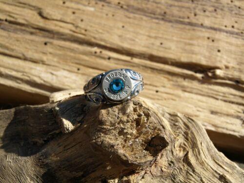 NICKEL 38 Special /& Crystal Ladies Scroll Stainless Steel BULLET Ring R-204N