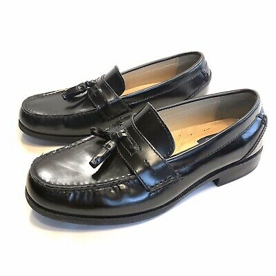 Chaps Men/'s Affiliate 96-8334 Tassel Dress Shoes Black Leather Slip-ons
