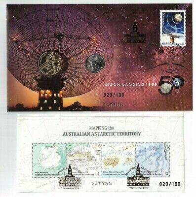 England to Australia Flight PNC /& MS 2019 Brisbane Stamp /& Coin Fair Silver OP