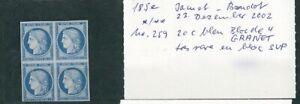 A-VOS-OFFRES-144-CERES-bloc-de-4-timbres-20-centimes-bleu-Granet-SUP