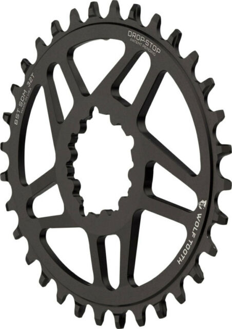 Wolf Tooth Components PowerTrac Drop-Stop Chainring 32T Sram DM 3mm Offset Boost