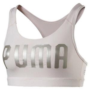 PUMA-Damen-Powershape-Forever-Logo-Bustier-SPORT-BH-BRA-Pearl