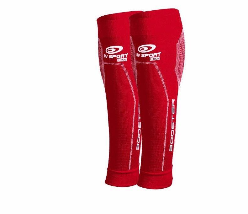 BV SPORT Booster Elite Rosso Veines Sport Compressione Calza Running Corsa
