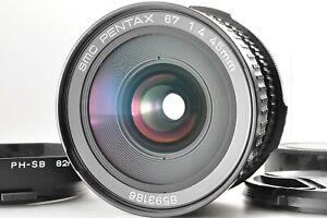 [TOP Nuovo di zecca!] Pentax 67 SMC 45mm F4 Wide Angle SLR per 67II 6x7 con cappuccio dal Giappone
