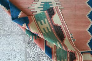 Handmade-Vintage-Decorative-Ethnic-Anatolian-Decorative-Kilim-Area-Rug5-039-8-034-x3-039-10-034