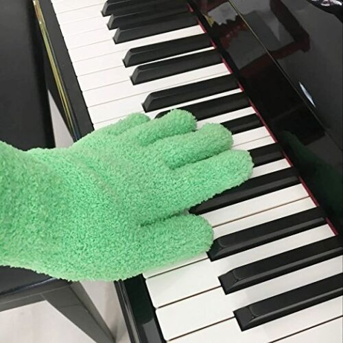 EvridWear 2 pairs Microfiber Dusting Soft Cleaning Gloves House Auto Family Pack