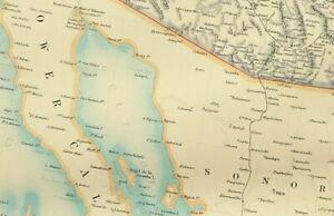 1895 ANTIQUE MAP UNITED STATES NORTH AMERICA CHICAGO SAN FRANCISCO BOSTON PLAN