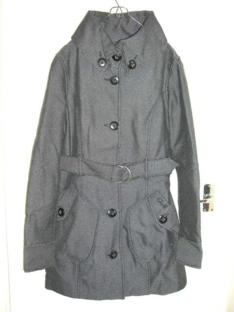 Oneill ONEIL Jessy GREY BLACK OUT Tweed Caban piccoli UK 8 10 NUOVO CON ETICHETTA & ricevuta