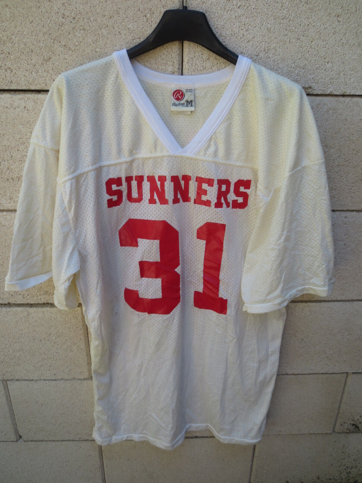 Maillot foot vintage américain US SUNNERS PACHARIS n°31 vintage foot made in USA 80's shirt b6139c