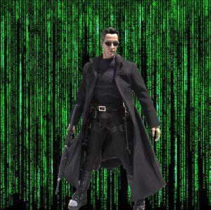 1//6 Scale Toy THE MATRIX NEO Keanu Reeves Noir Épaule Étui Avec Ceinture /& pistolet