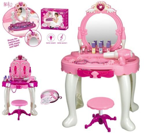 Childrens coiffeuse miroir tableau filles cuisine cuisson workbench tool playset new