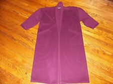 EILEEN FISHER Vintage Purple Plum Side Pocket Wool Long Coat - 1x 2x~issues~