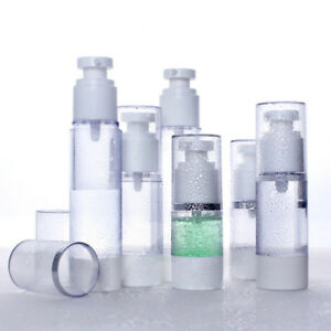 Empty-Refillable-Airless-Lotion-Pump-Cosmetic-Bottle-15-30-50ml-Matte