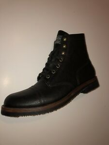 Leather Lauren Country Black 10 Boots All Ralph Men's 5 Polo Enville xTwPYq66