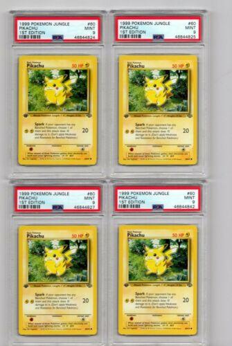 4 available 1 1999 POKEMON JUNGLE 1ST EDITION #60 PIKACHU PSA 9 Rare