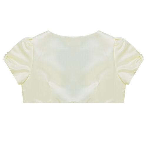 Flower Girl Short Sleeve Bolero Shrug Cardigan Top Short Jacket Cover Up Outwear