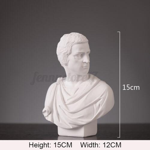 Art Bust Sculpture Head Statue Resin Sketch Draw Plaster Cast Model Manik  ~