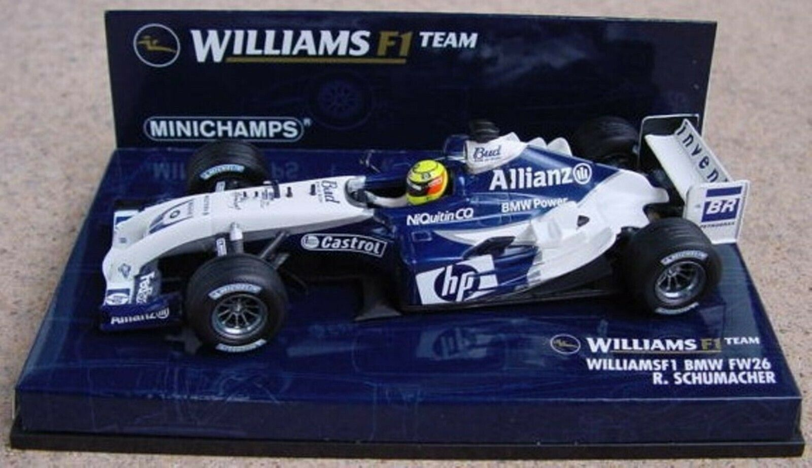 WOW estremamente raro Williams FW26 R Schumacher MONACO 2004 TRICHECO 1 43 Minichamps
