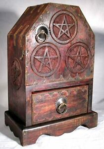 Witch-039-s-Pentagram-Altar-Cupboard-Cabinet