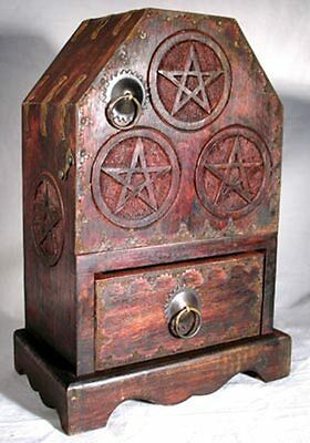 Witch's Pentagram Altar Cupboard Cabinet!