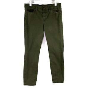 J.Crew Toothpick OD Green High Rise Soft Stretchy Ankle Skinny Jeans Size 32