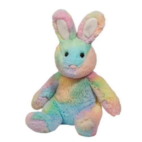 Douglas Rainbow Sherbet 10 Bunny plush stuffed animal Easter rabbit pink green