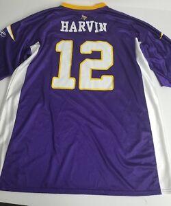 1b63291676c Image is loading Reebok-PERCY-HARVIN-12-NFL-Minnesota-Vikings-Purple-