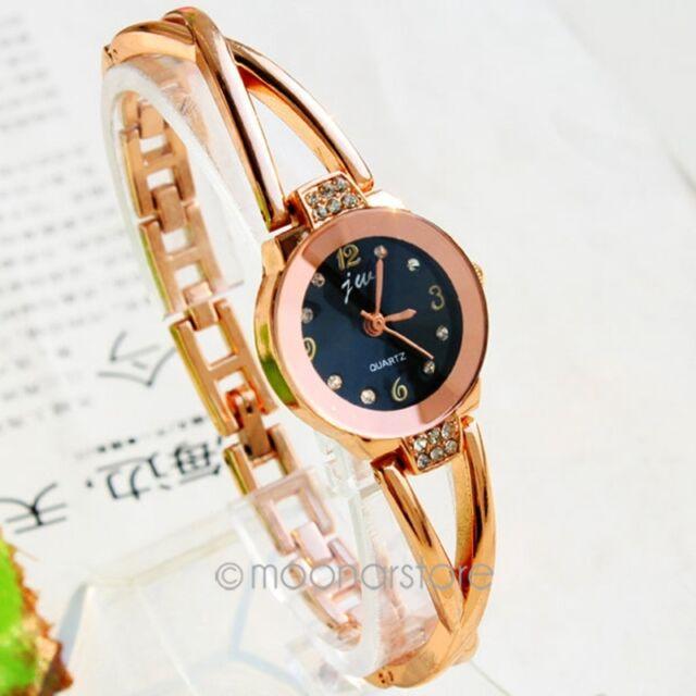 Damen Armband Uhr Damenuhr Armbanduhr Quarzuhr Legierung Strass Modeschmuck Neu