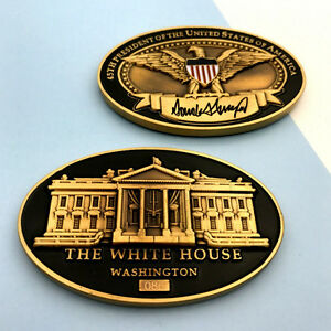 DONALD TRUMP Challenge Coin 45th PRESIDENT WHITE HOUSE ...