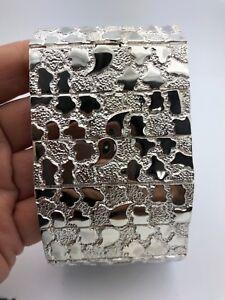 """925 Sterling Silver Nugget Bracelet Adjustable 8.5"""" - 9"""" 138.2grams"""