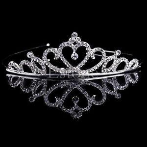 Lot10 Wedding Bridal Princess Crystal Prom Hair Tiara Crown Veil Headband w//Comb