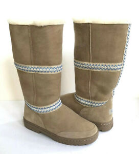 c51149a773f Details about UGG SUNDANCE ULTRA TALL REVIVAL SAND BRAID LEATHER BOOT US 10  / EU 41 / UK 8