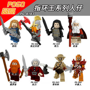 Bausteine-The-Lord-Of-The-Rings-Goblin-ORCS-Figur-Spielzeug-Ironfoot-Toys-8PCS