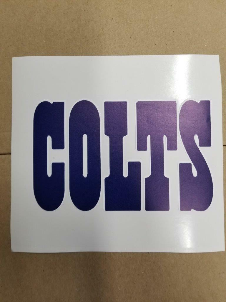 Indianapolis Colts cornhole board or vehicle decal(s)IC3