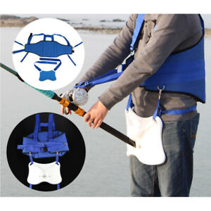 Professional-Fishing-Fighting-Belt-Harness-Waist-Gimbal-Stand-Up-Rod-Holder-8mm