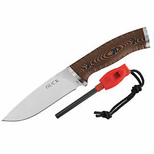 Buck Knives Selkirk 420HC Plain Edge Micarta Handle Fixed Blade Knife 863BRS