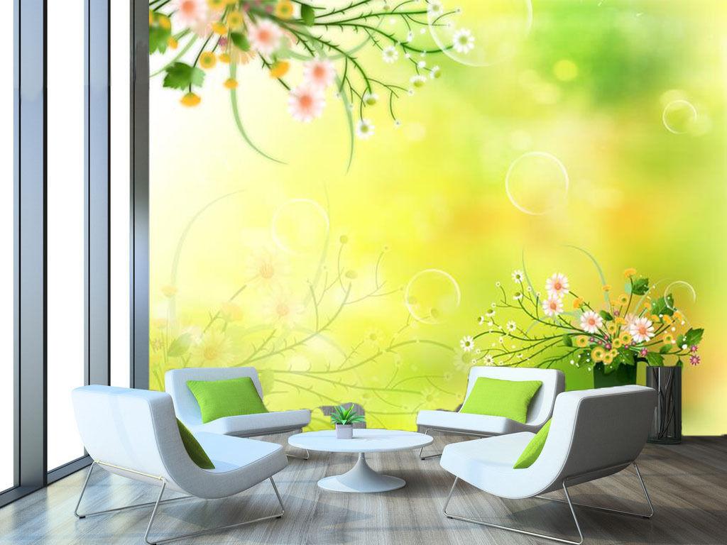 3D Green Wildflowers Plant 4467 Wall Paper Wall Print Decal Wall AJ WALLPAPER CA