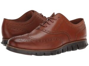 Uomo-Scarpe-Cole-Haan-zerogrand-all-039-inglese-Oxford-in-Pelle-C29411-BRITSH-Tan