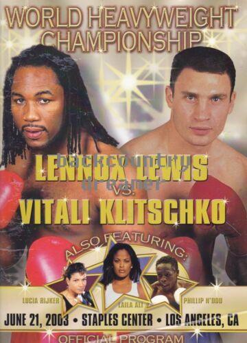 A 36 x 24 LENNOX LEWIS VITALI KLITSCHKO Poster Boxing Heavyweight Boxing Poster